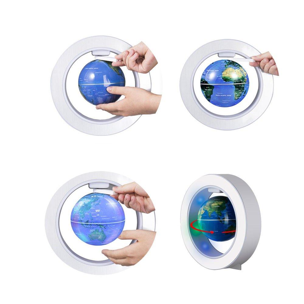 FUZADEL Magnetic Floating Levitating Globe Levitating Toy Magnetic Levitation Globe Magnetic Toy Playboards Floating Globes with Stand by FUZADEL (Image #5)
