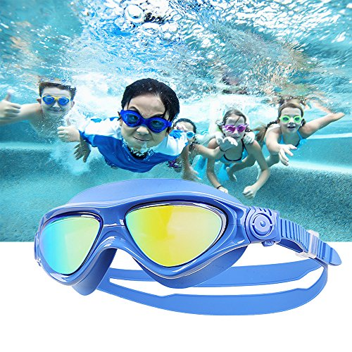 Kids Swim Goggles-Swimming Glasses with Anti-Fog, Waterproof, UV Protection,for Children and Early Teens from 5 to 16 Years Old(Blue) (Children's Near Me Glasses)