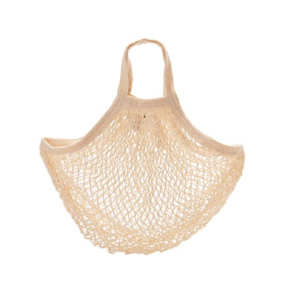 ECOBAGS PRODUCTS String Bag Tote Handle Natural Cotton Natural