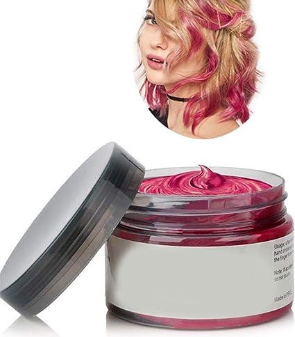Cera del color del pelo, peinado mate natural para party.osplay, Halloween (Rojo)
