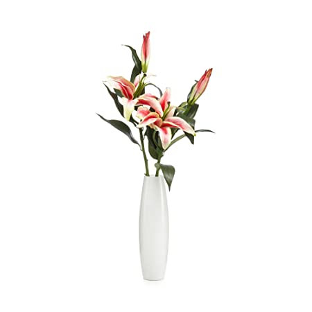 Debenhams White Vase Of Artificial Lilies Debenhams Amazon