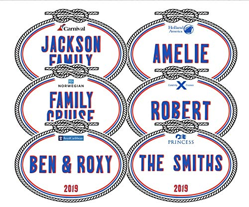 (Personalized Name Tag Door Magnet | Carnival Cruise Line Magnet || Holland America Magnet | Royal Caribbean Magnet | Princess Cruise Magnets | Norwegian Cruise Line | Celebrity Cruises)