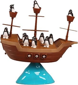 Juguete Juego de Mesa Equilibrio Barco Pirata del Pingüino ...