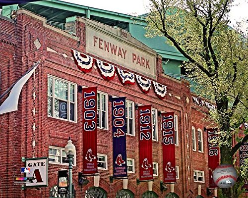 (Outside Boston Red Sox Fennway Park. 8x10 photo)