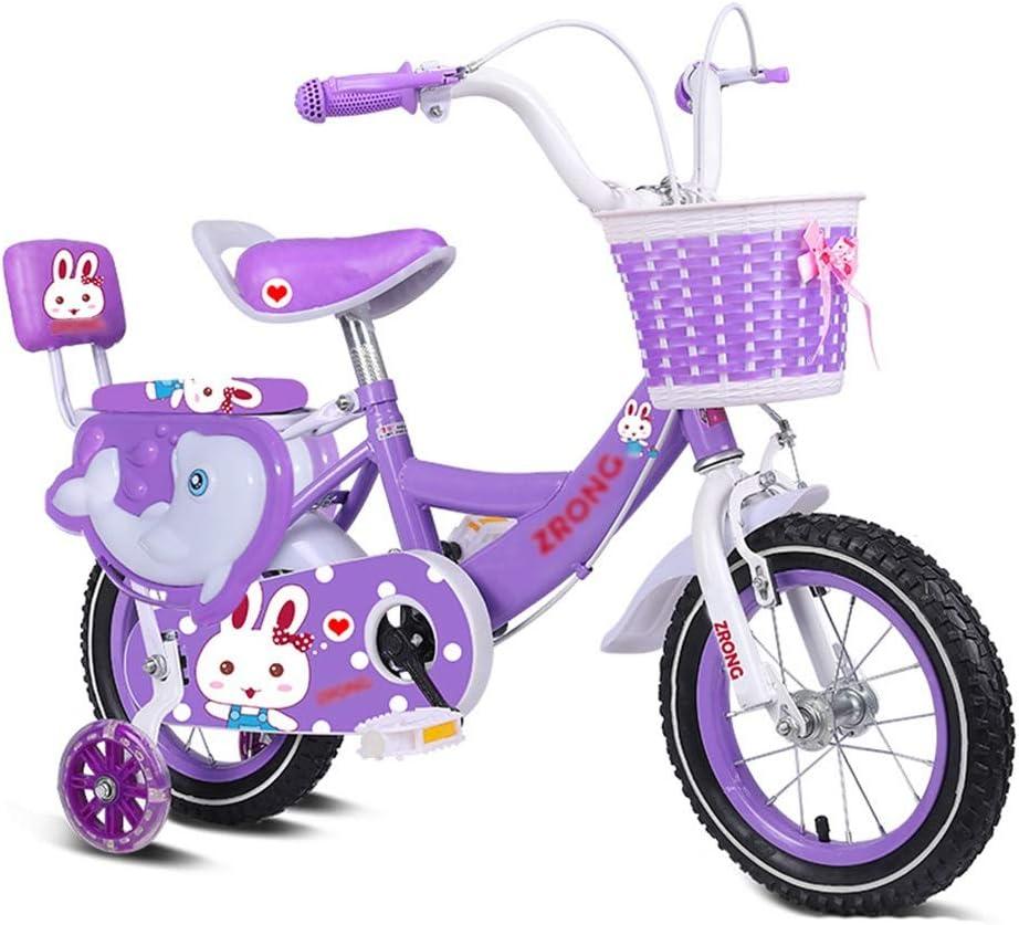 Bicicletas Triciclos Infantil Morada niña de 2~10 años Pedales Princess Ejercicios de Interior (Color : Purple, Size : 12inches)