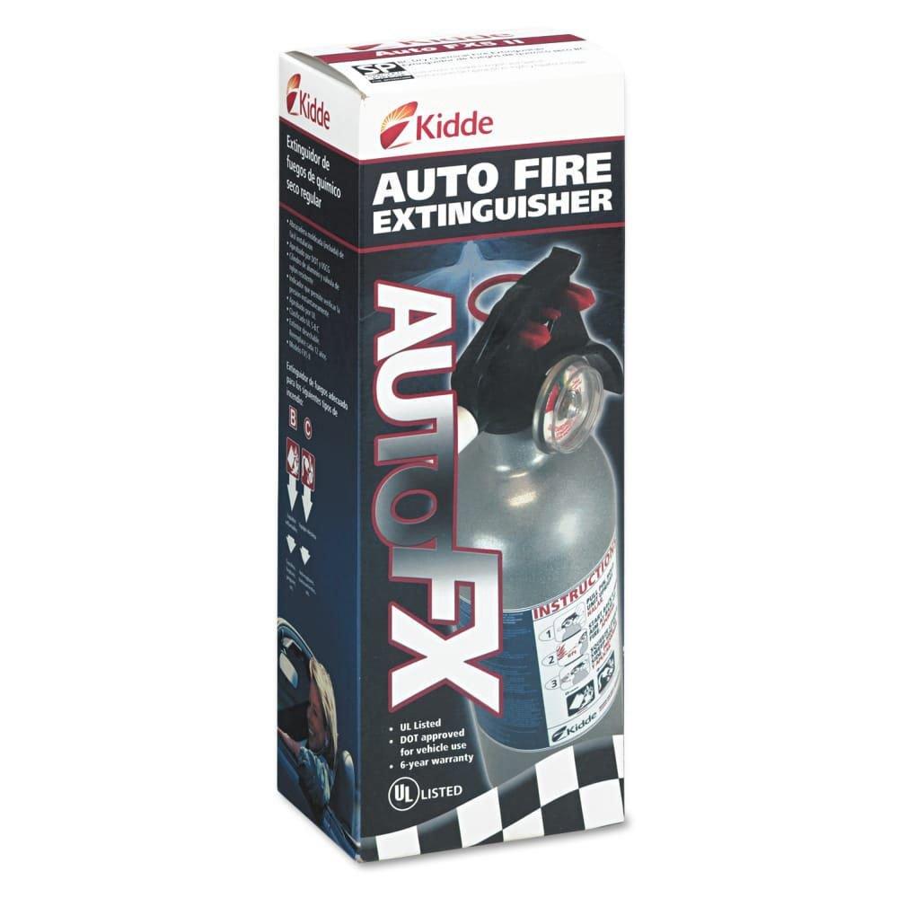 KID21006287N - Kidde FX511 Automobile Fire Extinguisher, 5 B:C, 100 psi, 2 lbs. - Kidde Auto FX511 Disposable Auto Fire Extinguisher - Each