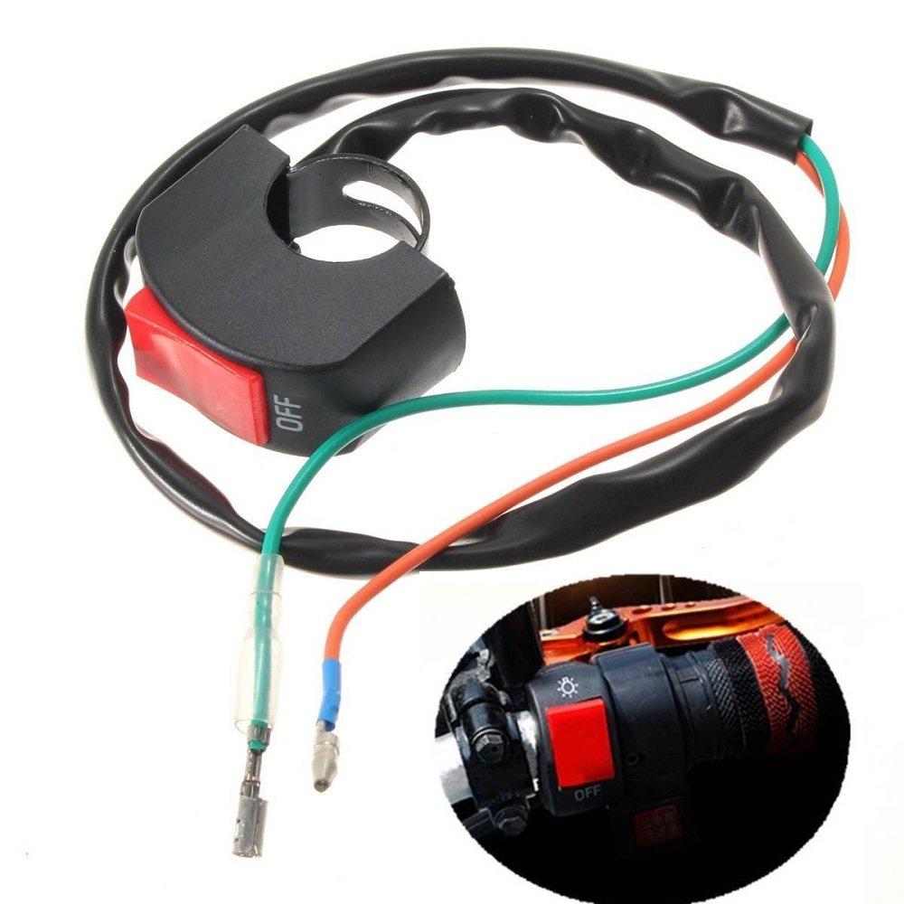 22 cm indicatore, interruttore fendinebbia, universale per manubrio moto o auto N&nkiwi