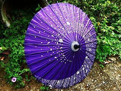 和傘 コスチューム用小物 紫 長さ約85cm