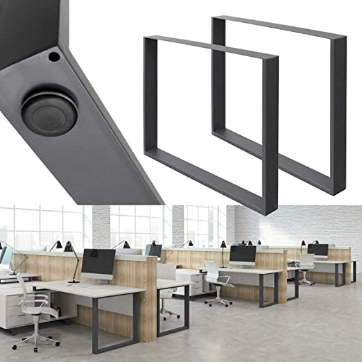 ECD Germany 2 x Conjunto de Patas de Mesa industriales - pies de ...