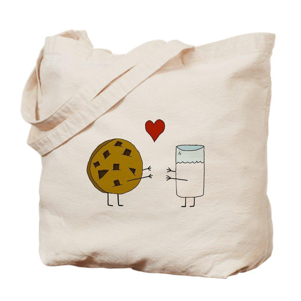CafePress – Cookie Loves Milk – ナチュラルキャンバストートバッグ、布ショッピングバッグ B01JNGX2A6