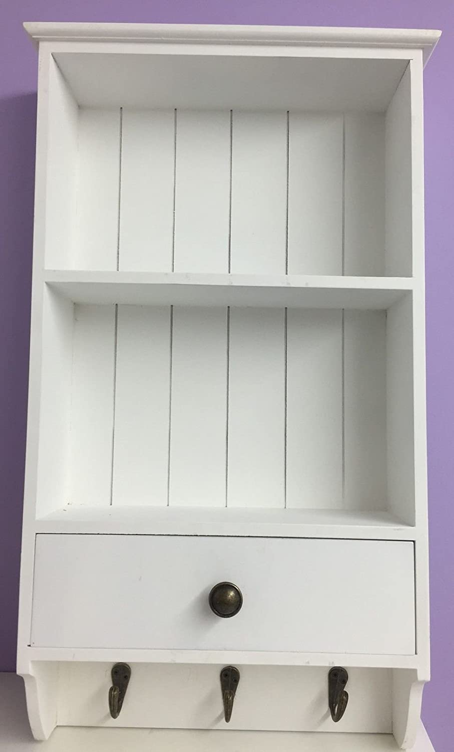 Shabby chic french style country wall shelf unit with hanging shabby chic white wood wall shelves amipublicfo Image collections