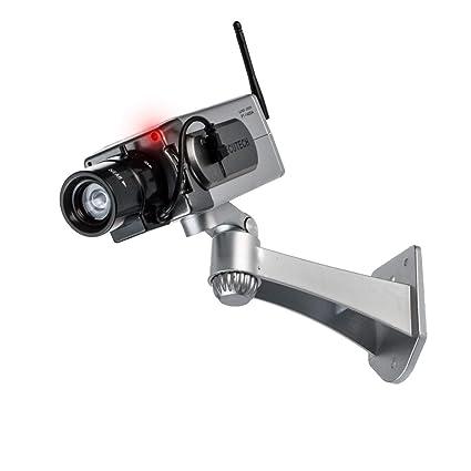 Cámara de seguridad CCTV de vigilancia Dummy para el cartílago rojo inalámbrica para exteriores Flash LED
