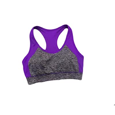 Abetteric Women Yoga Sports Cool Dry Comfort Underwire Shockproof Mid Sports Bra
