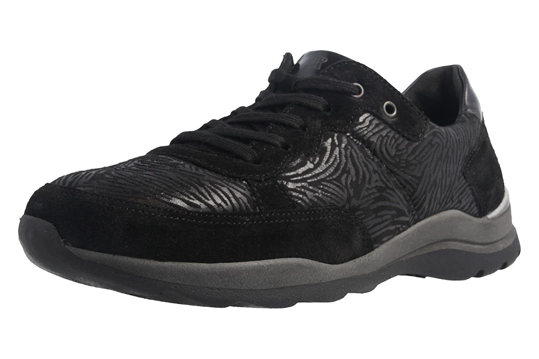 Romika - Zapatos de Cordones de Material Sintético para Mujer Negro Negro 42 EU
