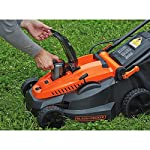 "BLACK+DECKER 40V MAX Cordless Lawn Mower, 16-Inch (CM1640) 10 Height Adjust- 6 settings, with a height of cut between 1-1/10"" and 3-1/10"" Includes (2) 40V Max Lithium Batteries Folding handles for easy & convenient storage"