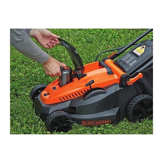"BLACK+DECKER CM1640 40V MAX Cordless Lawn Mower, 3 Height Adjust- 6 settings, with a height of cut between 1-1/10"" and 3-1/10"" Includes (2) 40V Max Lithium Batteries Folding handles for easy & convenient storage"