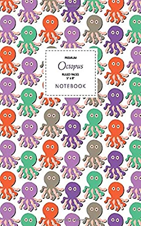 5x8 Ruled Pages Autumn Octopus Notebook Premium