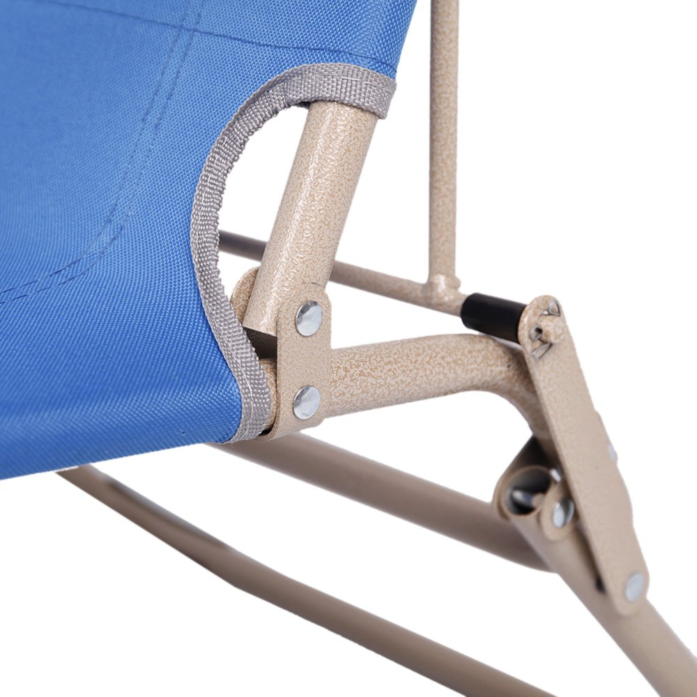 Livebest Set of 2 Portable Lounge Chairs Chaise Folding Recliner Chair for Yard Office and Pool