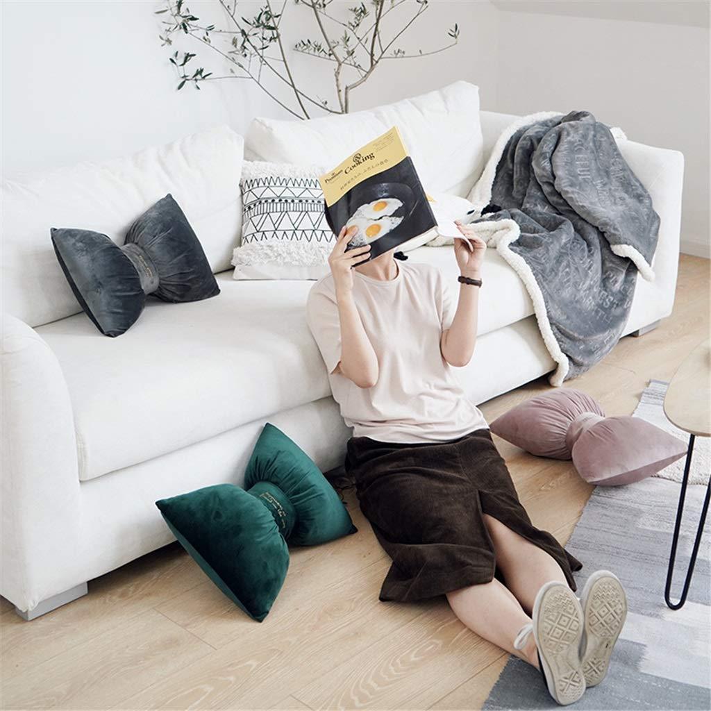 Amazon.com: Cojín de terciopelo con diseño de nudo y lazo ...