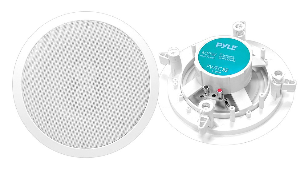 Pyle Home PWRC82 8-Inch Weather Proof 2 Way In-Ceiling/In-Wall Stereo Speaker