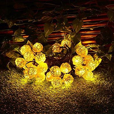 Dephen Solar Globe Ball String Lights,30LED 20ft Fairy Orb Lantern Christmas Solar Powered String Lights for Outdoor Garden, Yard, Patio, Party, Home Decoration