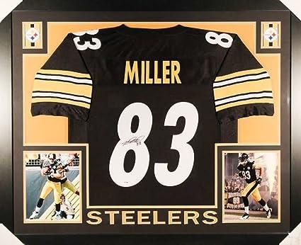 7a77a34d6 Heath Miller Autographed Signed Steelers 35x43 Deluxe Framed Jersey - JSA  Certified