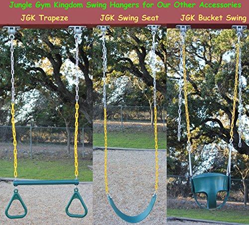 Heavy Duty Playground : Jungle gym kingdom heavy duty swing hangers for wooden