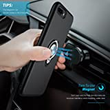 iPhone 8 Plus Case, iPhone 7 Plus Case, iCaber Dual Layer Defender Armor Cover Ring Holder Shock Proof PC and Soft TPU for Apple iPhone 8 Plus / iPhone 7 Plus