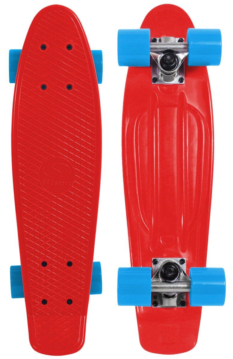 注目の SMJスポーツスピードボードBS2206 PAレッドスケートボード B07216ZDT4、レッド、22