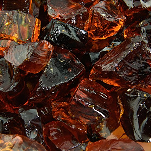 Cowboy Brown - Crushed Fire Glass for Indoor and Outdoor Fire Pits or Fireplaces | 10 Pounds | 3/8 Inch - 1/2 Inch