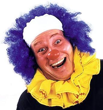 Disfraces para todas las ocasiones CA23BU payaso peluca calva Curly Azul