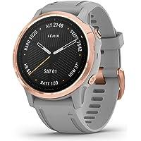 Reloj Garmin Fenix 6S Sapphire Oro Rosa con Correa de Silicona Gris 010-02159-21