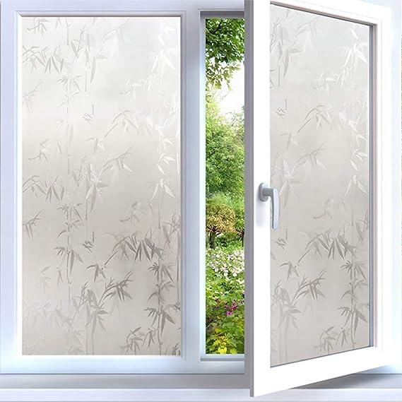 TT&CC , Helado de PVC corredizas Puerta balcón Vidrio autoadhesiva Anti UV IR rechazo Pegatinas de Cristal Película de Ventana-A 30x500cm(12x197inch): Amazon.es: Hogar
