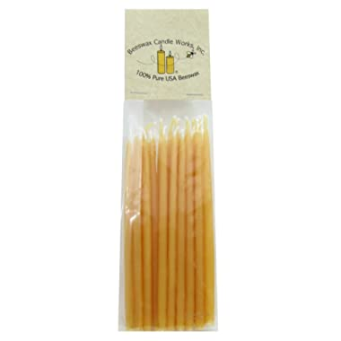 100% Pure USA Beeswax 5  Birthday Candles (Pack of 24)