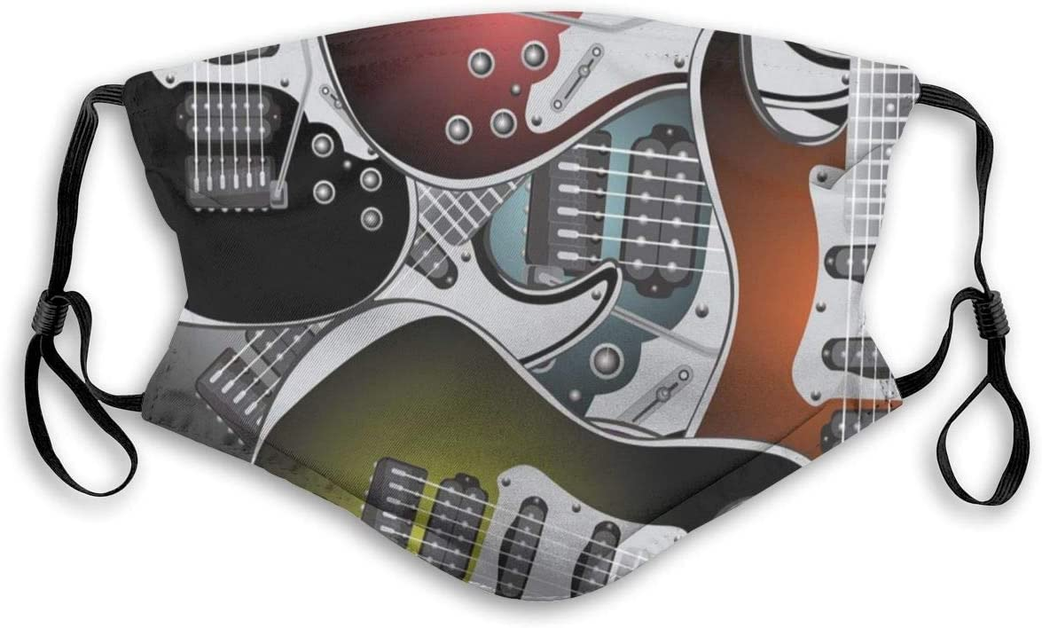 Pila de gráficas Coloridas Guitarras eléctricas Música Rock Instrumentos de Cuerda Filtrado Tapa de la Boca Tapa de la Cara