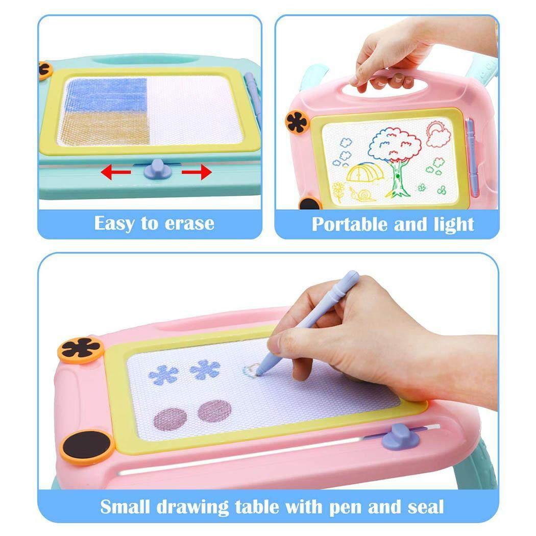 pairris Tavolo da Disegno Magnetico per Bambini con Supporto Giocattoli educativi per Pittura con Graffiti Tappeti per Bambini