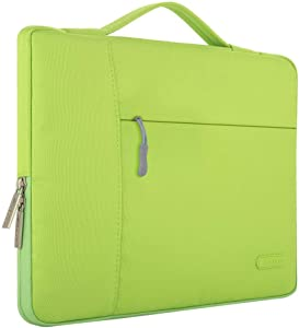 MOSISO Laptop Sleeve Compatible with 13-13.3 inch MacBook Air, MacBook Pro, Notebook Computer, Polyester Multifunctional Briefcase Carrying Bag, Greenery