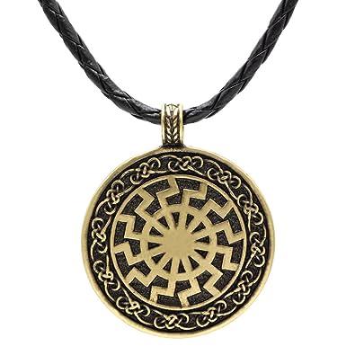 Ttkp black sun viking pendant viking necklace norse viking jewelry ttkp black sun viking pendant viking necklace norse viking jewelry sonnenrad aloadofball Choice Image