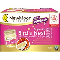 New Moon Superior Bird's Nest with Collagen and Rock Sugar [Less Sugar] 75g (Pack of 6)
