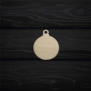 ArogGeld Round Christmas Ornament Wood Craft,Unfinished Wooden Cutout Art,Inspirational Farmhouse Wall Plaque,Rustic Home Decor for Living Room,Nursery,Bedroom,Porch,Gallery Wall