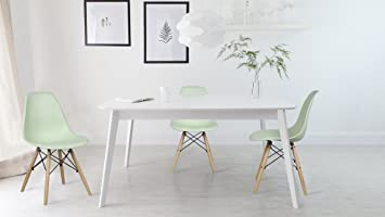 GIA Apple Green Armless Home Office Side Dining ChairSet Of 4