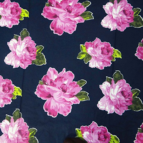 Dress Making Printed Cotton Blue Fabric Indian Material Craft Fabric By 1 Yard