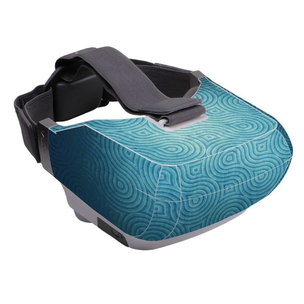 MightySkins Skin Compatible with Yuneec Skyview - Blue Swirls | Protective, Durable, and Unique Vinyl Decal wrap Cover | Easy to Apply, Remove, and Change Styles | Made in The USA