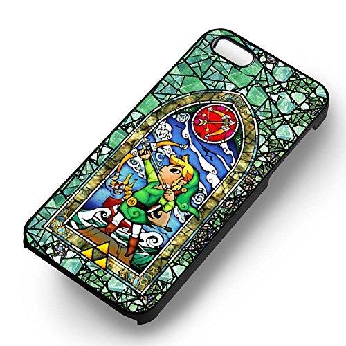 Cartoons Stain Glass pour Coque Iphone 6 et Coque Iphone 6s Case (Noir Boîtier en plastique dur) K5J1QM