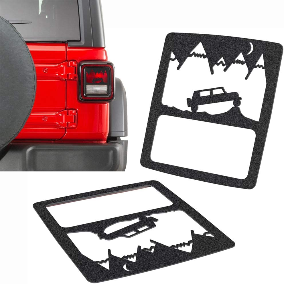 JeCar Tail Light Covers Rear Light Guards for Jeep Wrangler 2018 Unlimited JL Sport//Sports