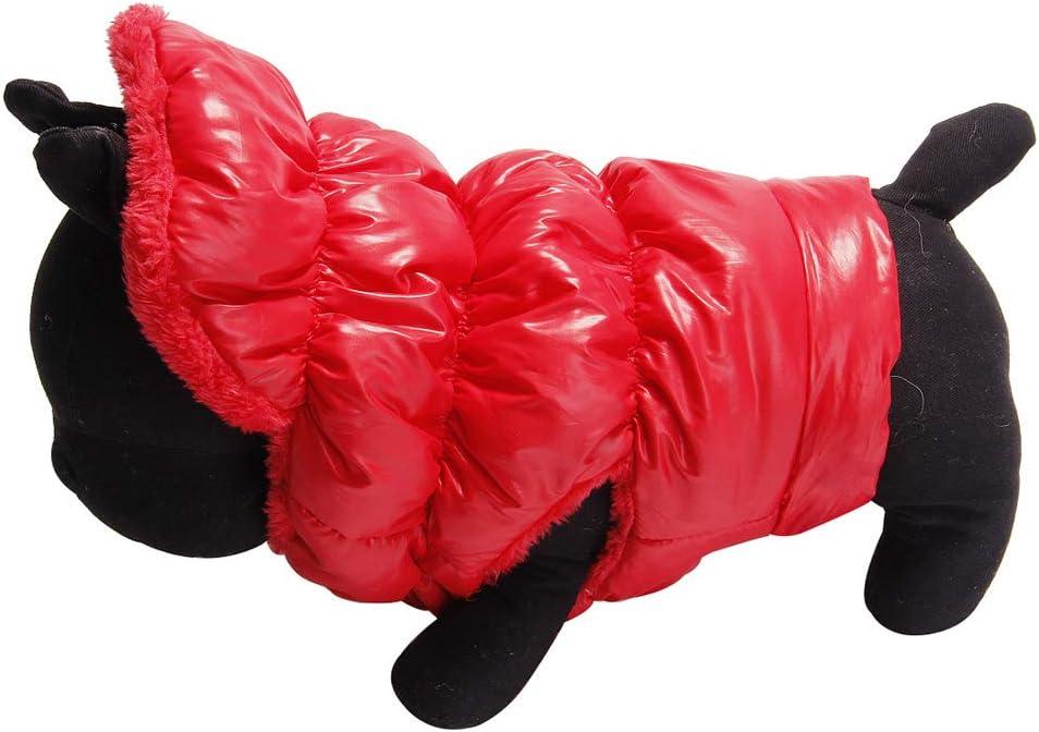 SODSIM Hundemantel f/ür Kleine Hunde Winter Hundejacke Warm Hundeweste Fleece Hundebekleidung Gef/ütterte