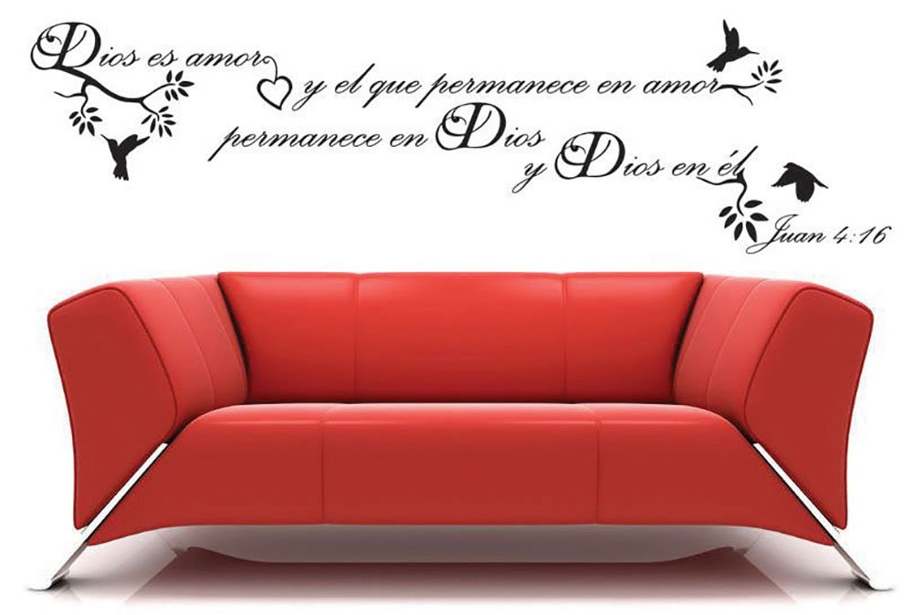 Dios es amor Spanish christian vinyl wall decal words home decoration sticker bcreativinyl USA seller ship with tracking number (13 x 47 in (choose color from color chart in picture))