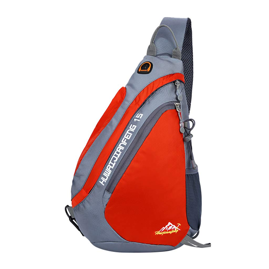 Sports Shoulder Messenger Sling Bag, Casual Multipurpose Backpack, Durable Breathable Zipper Closure Chest Pack for Hang Out Outdoor Travel Running by Excursion Sports