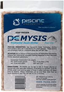 Piscene Energetics Frozen APE00008 Flat Pack Freshwater Mysis Shrimp Fish Food, 8-Ounce