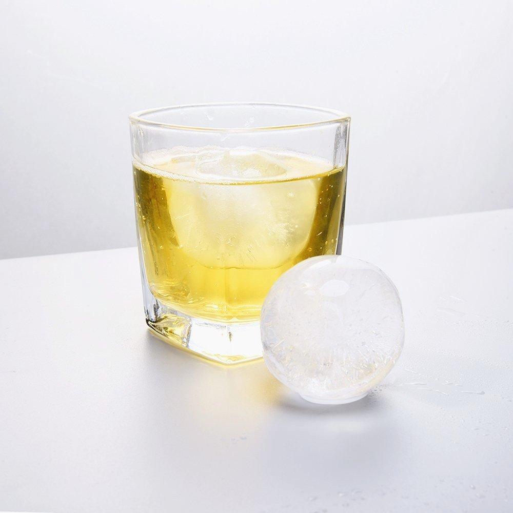 Bola de hielo bandeja Sphere (Set de 2), zonyanl silicona hielo ...